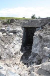 Inngangspartiet til bunkeren